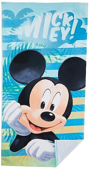 Disney Mickey Mouse para niños de baño toalla de playa de microfibra 70 x 140 cm - nueva 2018: Amazon.es: Hogar