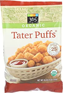 365 Everyday Value, Organic Tater Puffs, 16 oz, (Frozen)