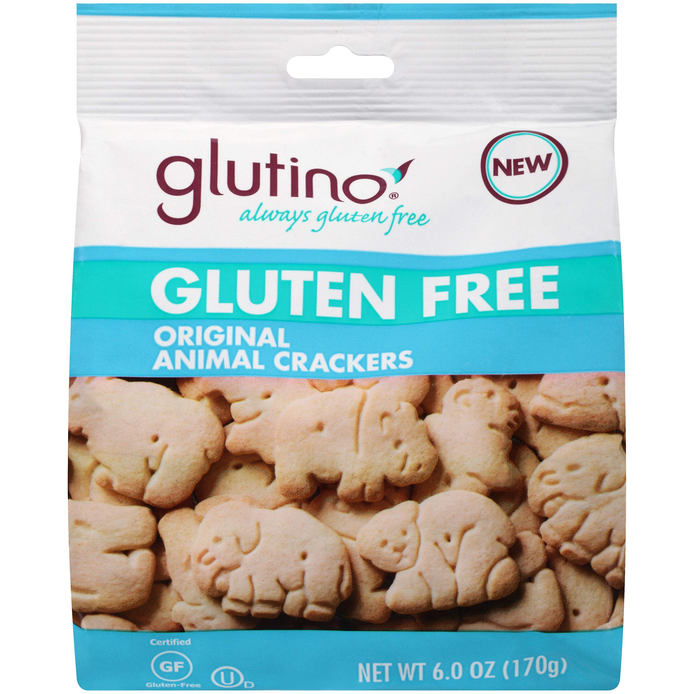 Glutino Gluten Free Animal Crackers, Crunchy and Sweet, Original Flavor, 6 Ounce by Glutino