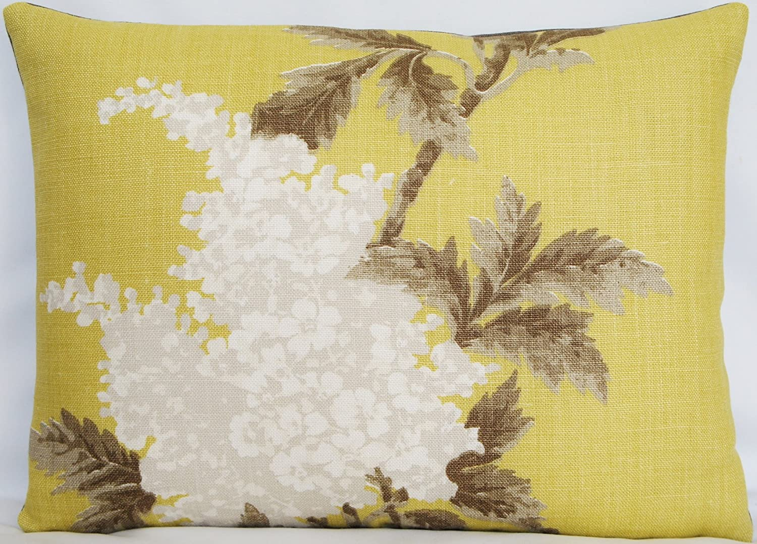 Nina Campbell Yellow Accent Pillow Throw Case White Hyacinth Cushion Cover Fabric Lomasi