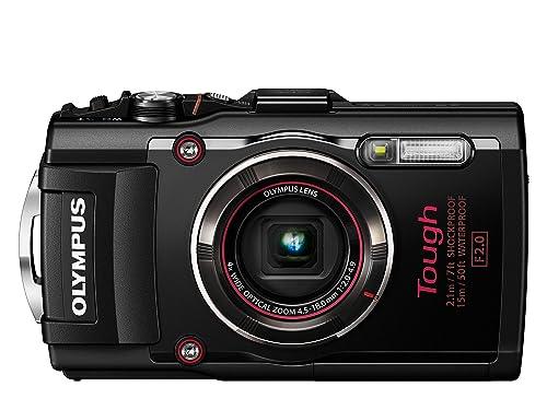 OLYMPUSデジタルカメラSTYLUSTG-4Toughブラック1600万画素CMOSF2.015m防水100kgf耐荷重GPS+電子コンパス&内蔵Wi-FiTG-4BLK