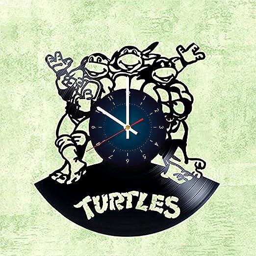Reloj de pared con diseño de tortugas ninja de adolescentes ...