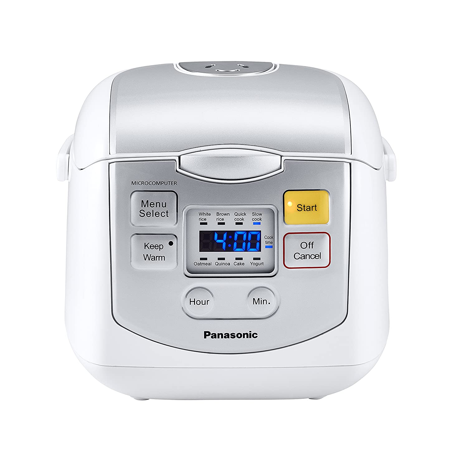 Panasonic SR-ZC075K 4-Cups (Uncooked) Rice Cooker & Multi-Cooker, White