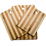 Chefs Limited 3 Piece Bamboo Cutting Board Set with Handle