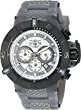 Invicta Men's 'Subaqua' Quartz Stainless Steel and Silicone Casual Watch, Color:Grey (Model: 24368)