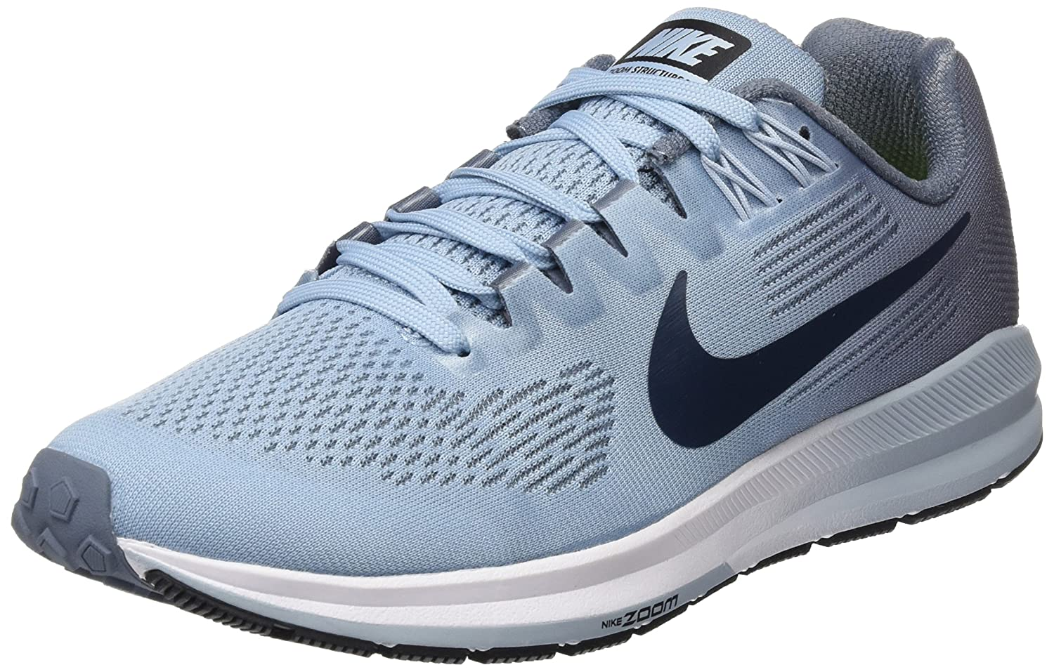 Nike W Air Zoom Structure 21, Zapatillas de Running para Mujer 37.5 EU|Multicolor (Armory Blue/Armory Navy/Cirrus Blue 400)