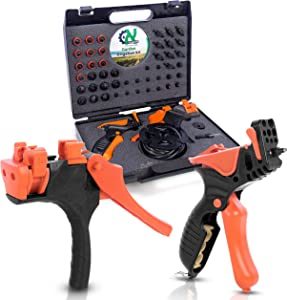 AL-MAGOR Garden Irrigation Kit: Complete Set for Installing, Inserting Sprinklers, Drippers in PE Tube Pipes with Tools, Plugs, Connectors, and Case