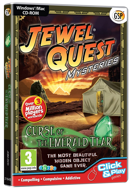 PC CD//Mac Jewel Quest Mysteries Curse of the Emerald Tear