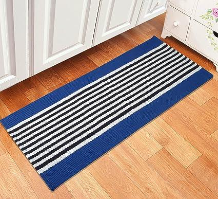 Saral Home Soft Cotton Multi Purpose Runner (SOS-511-BLUE)-45x120 cm