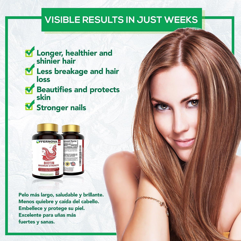 Amazon Com Vitaminas Para El Cabello Con Biotina Pastillas Para