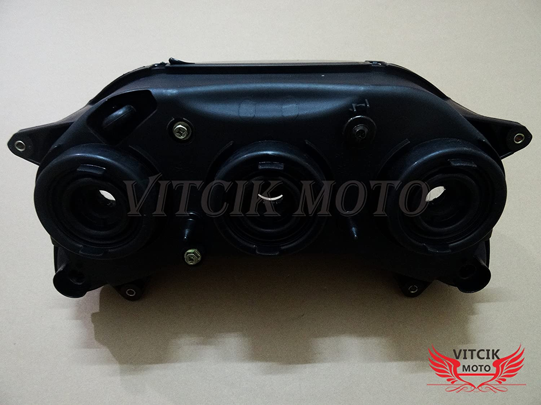 Black VITCIK Motorcycle Headlight Assembly for Honda CBR929RR 2000 2001 CBR929 RR 00 01 Head Light Lamp Assembly Kit