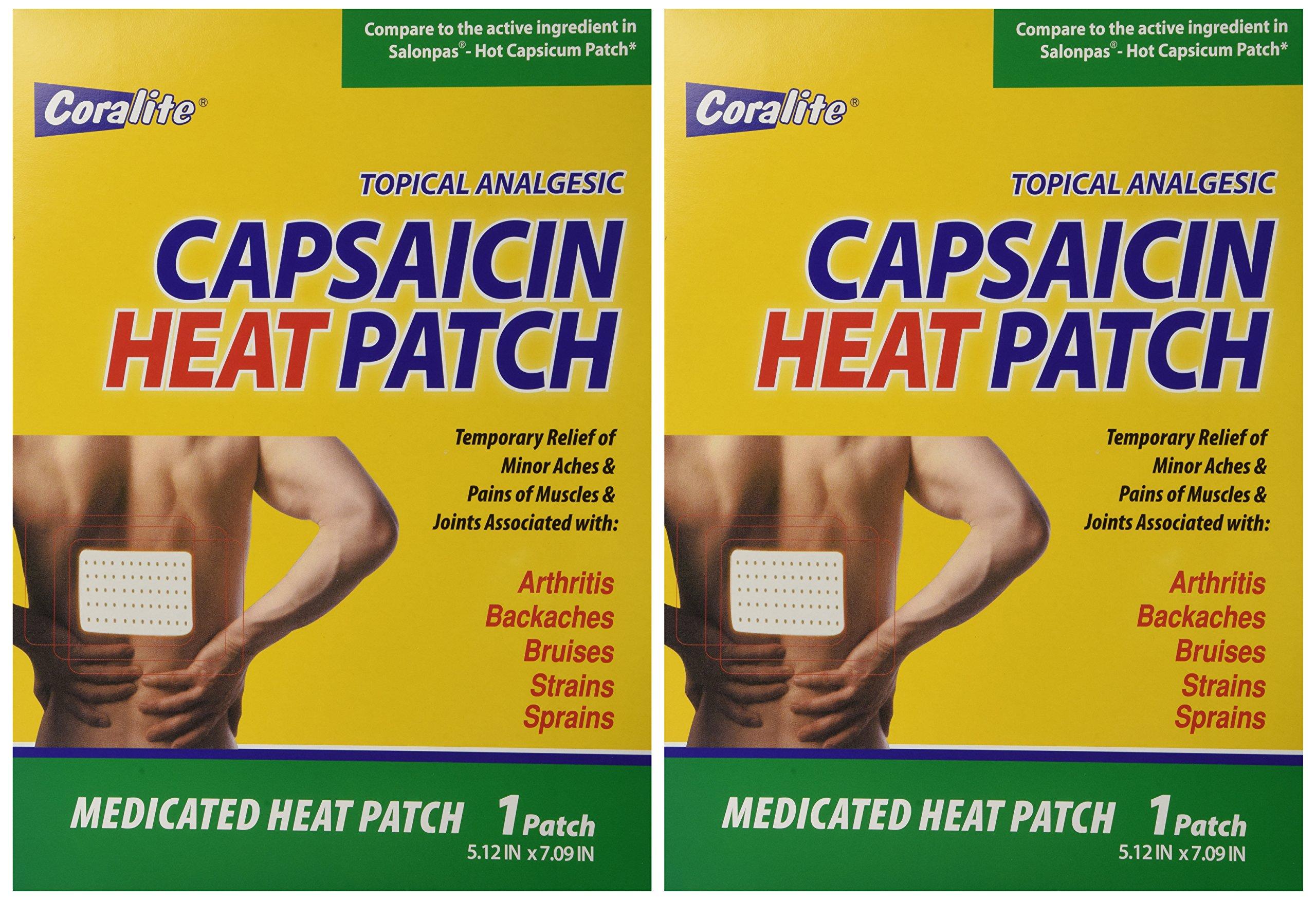 Coralite Capsaicin Hot Patch Bulk Case of 48 by Coralite