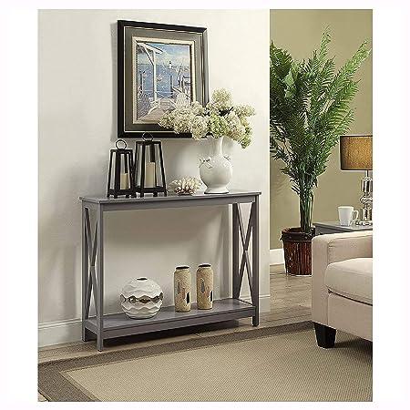 Amazon.com: Console & Sofa Tables, Grey Wood Console Sofa ...