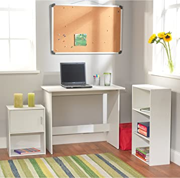 Amazon.com: Study Desk and Chair Set for Students and Teens ...