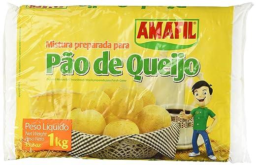 Amazon.com : Cheese Bread Mix/Pao de Queijo/Pan De Queso - Amafil - 35.2oz, (1kg) - GLUTEN FREE : Grocery & Gourmet Food