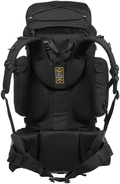 Best Of Rucksacks & Hiking Trekking Bags in India AmazonBasics, 75L Internal Frame Hiking Backpack with Raincover