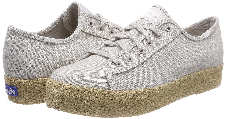 Keds Women's Triple Kick Jute Sneaker B072WDCF1L 7.5 B(M) US|Light Gray