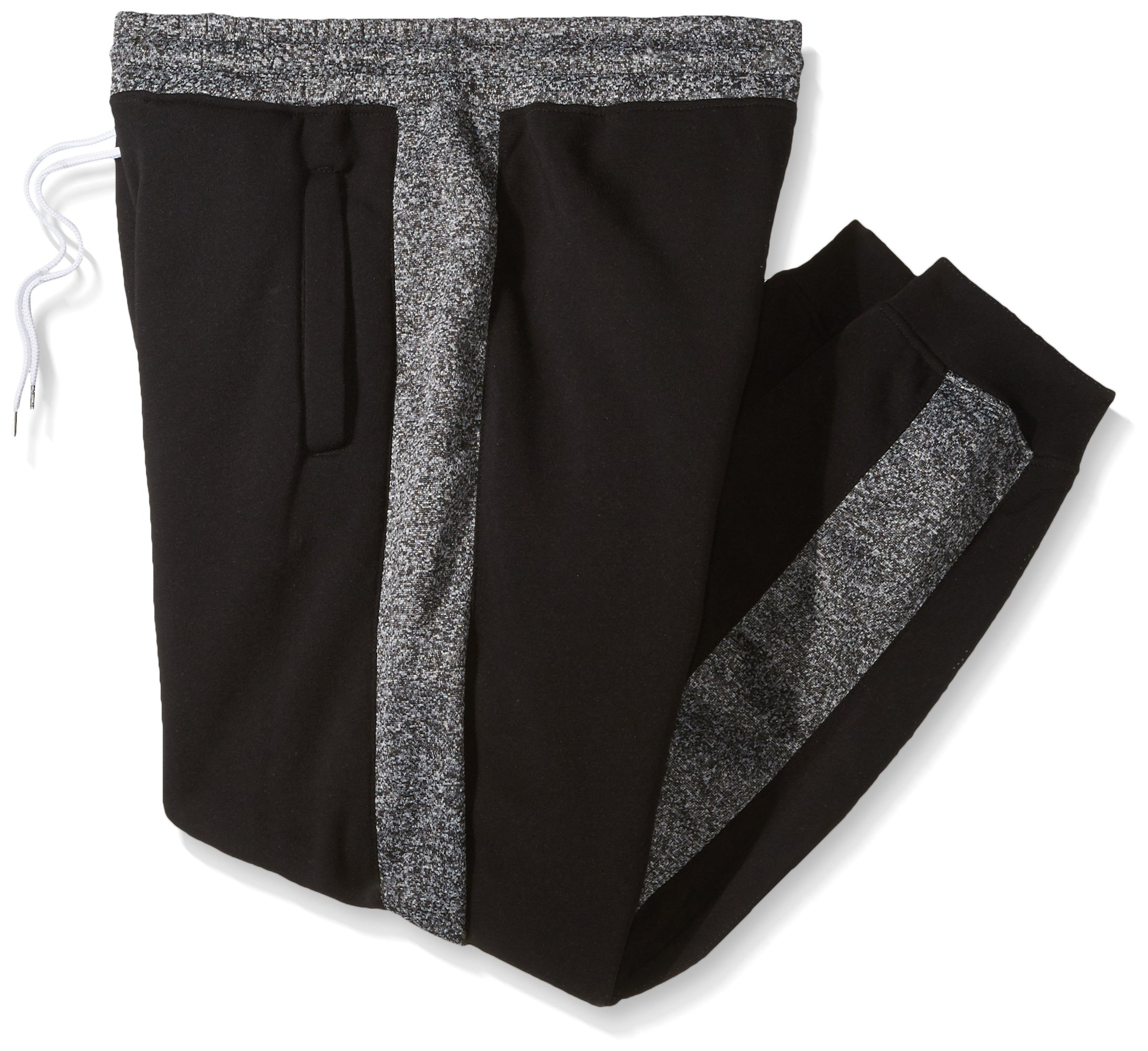 Southpole Men's Big and Tall Active Basic Jogger Fleece Pants, Black(Sidepanel), 5XB