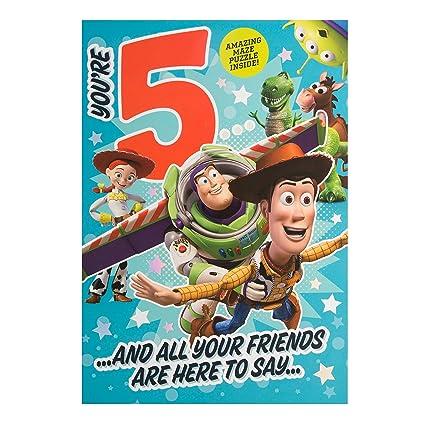 Hallmark - Tarjeta de Toy Story 5th cumpleaños tarjeta ...