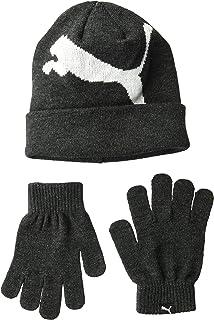 9233e13db81 PUMA Men s Kids  Evercat Block Cuff Pom Youth Beanie and Glove Set