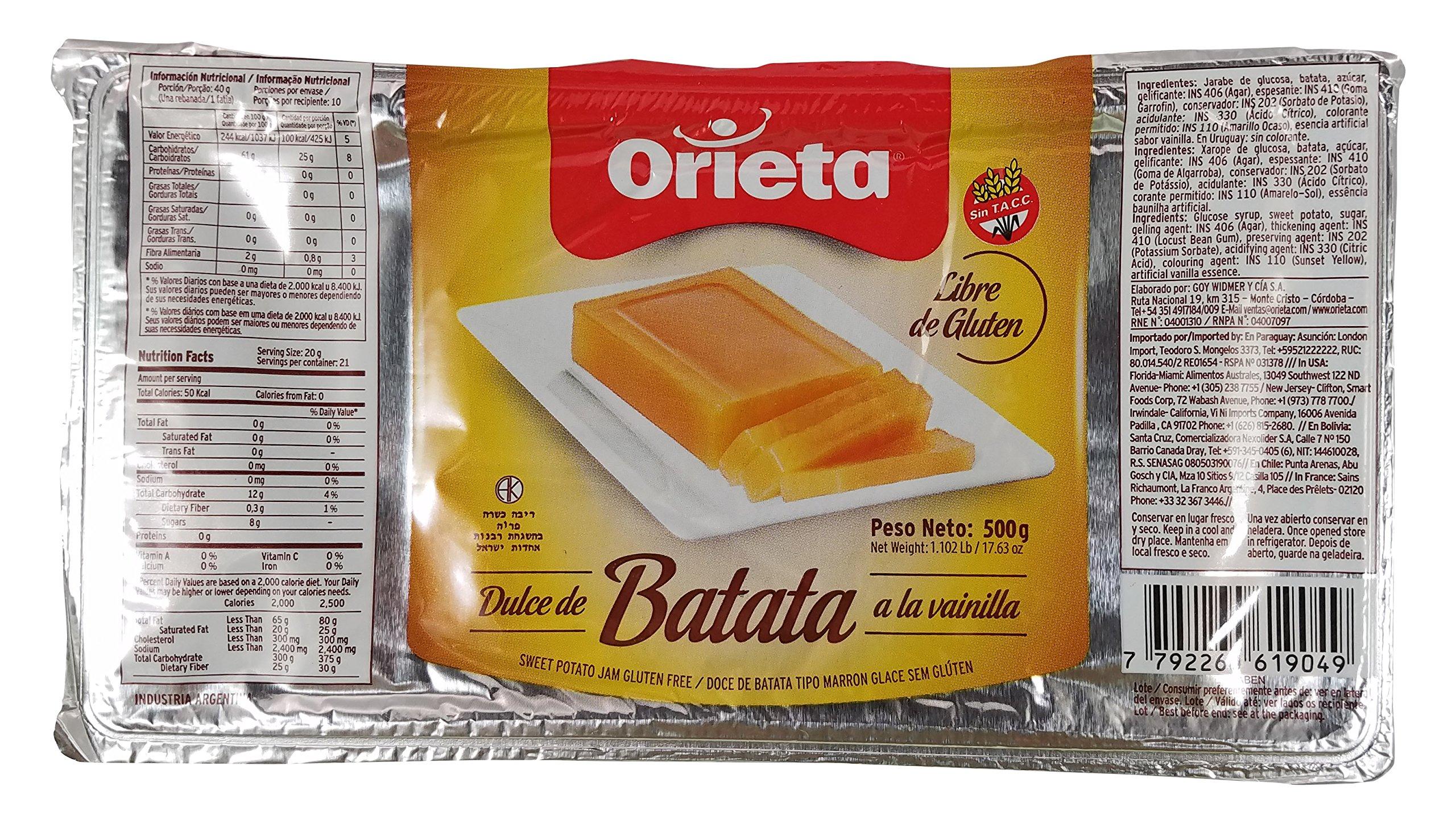ORIETA DULCE Dulce de batata Orieta, 11.25 lb