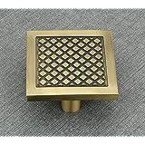 INNOVURA Aluminium Antique Finish Brass Pull/Push Handle Knob (100 x 100 mm)