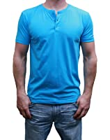Mens Henley Short Sleeve with 3 Buttons - Assorted Colors