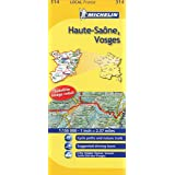 Michelin Map France: Haute-Sane, Vosges 314 (1:150K) (Maps/Local (Michelin)) (English and French Edition)