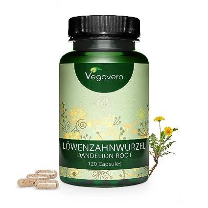 Diente de León Vegavero® | 1400 mg | Testado en Laboratorio | 120 Cápsulas | Diurético + Acné Hormonal + Digestión | Sin Aditivos | Taraxacum ...