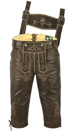 Kniebundhose Leder Antik Nappa- Trachtenlederhose Herren- Damen  Kniebundlederhose -Trachten Lederhose mit Träger in 507222706