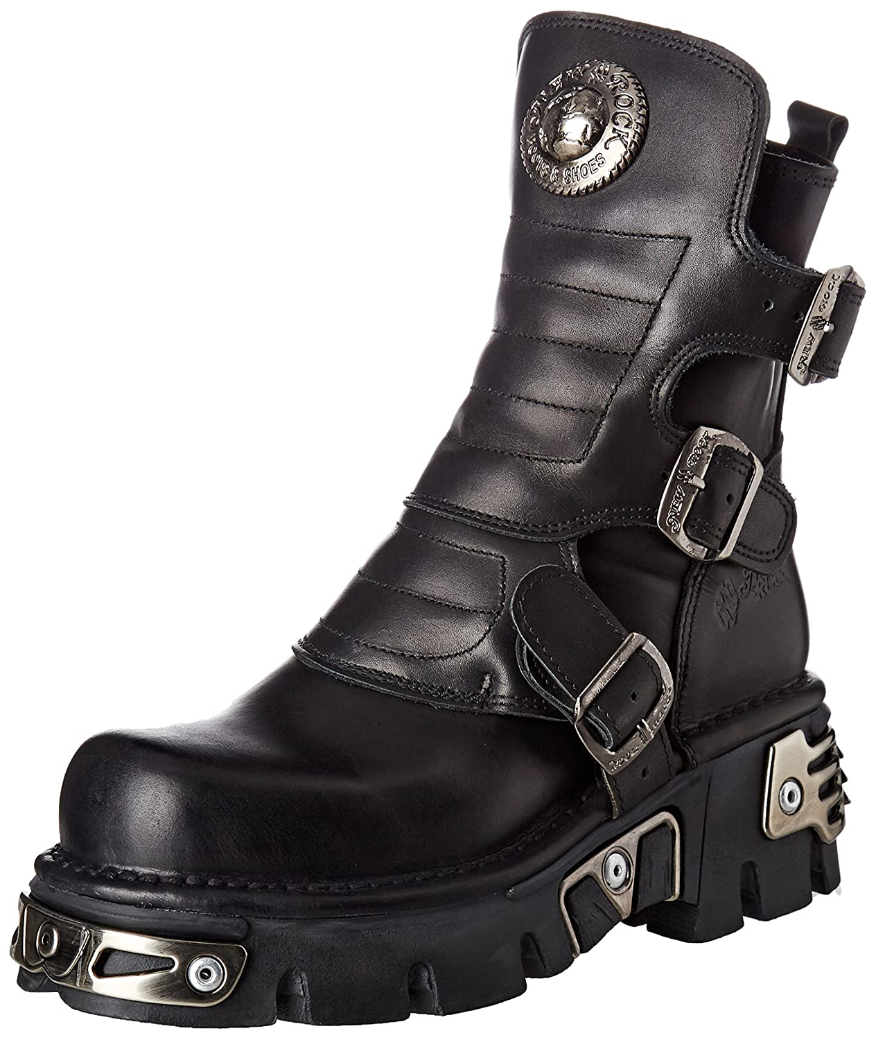New Rock M-391X-S1, Bottes Motardes Mixte Adulte, Noir (Black), 42 EU