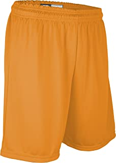 """product image for PT6477Y Youth Boy's and Girl's 7"""" Basketball High Performance Athletic Short (Youth Large, Gold)"""