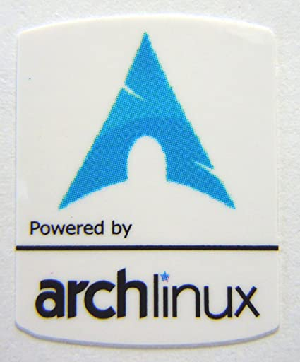 Strange Powered By Archlinux Sticker 19 X 24Mm 534 Download Free Architecture Designs Lukepmadebymaigaardcom