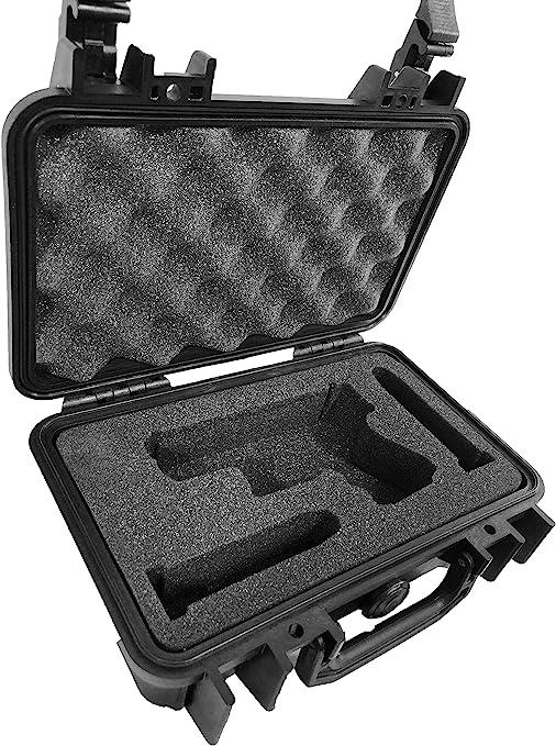 Pelican Case 1170 con inserto de espuma de Custom para Glock 27, diseño de pistola y 2 revistas. Resistente al agua, a prueba de polvo funda de transporte: Amazon.es: Deportes y aire libre