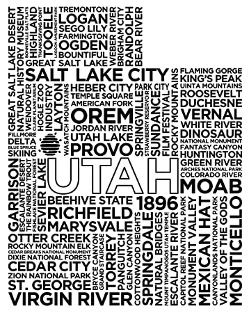 amazon slate cheese board etched utah kitchen dining Dinosaur Canyon image unavailable