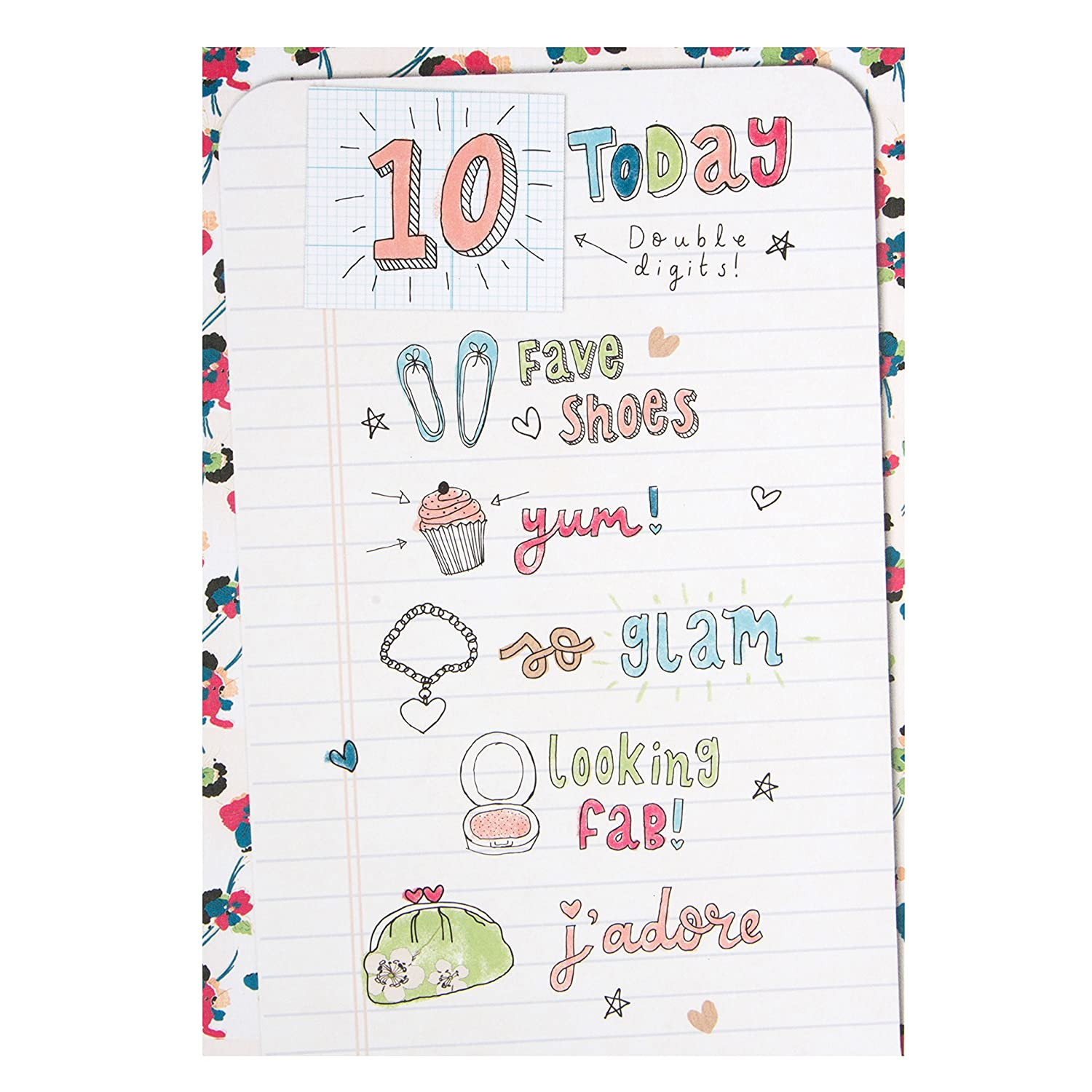 Hallmark 10th Birthday Card For Her Double Digits