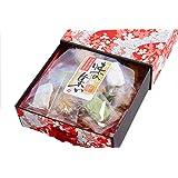 京箱 味の集い (せんべい ギフト 包装済み 手提袋付き 和紙 箱 個包装 海外 人気)