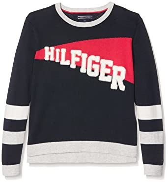 2da47ebb Tommy Hilfiger Girls Prep Cn Sweater L/S Cardigan, Blue (Navy Blazer), One  (Size:6): Amazon.co.uk: Clothing