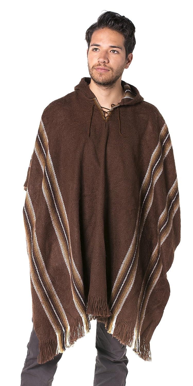 Gamboa Alpaca Poncho Hooded Brown Os At Amazon Womens Clothing