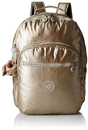 Kipling seúl para ordenador portátil mochila, (Metálico champagne), Talla única: Amazon.es: Zapatos y complementos