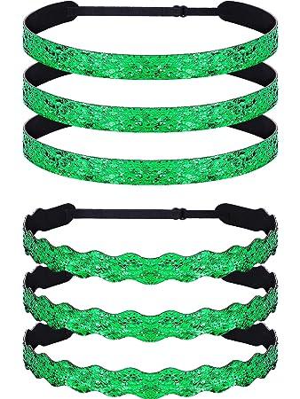 Skylety St. Patrick s Day Green Headband Shamrock Hairbands Hair Accessories  for Women Girls Irish Party 8aed2fb562