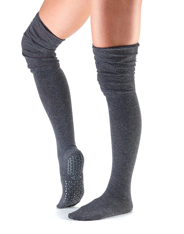 Tavi Noir Charlie Fashion Over the Knee High Grip Socks for Barre, Pilates, and Yoga