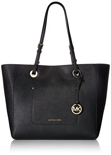 0476d4242eaa Amazon.com: MICHAEL Michael Kors Womens Walsh Leather Shoulder East West  Handbag Black Large: Shoes