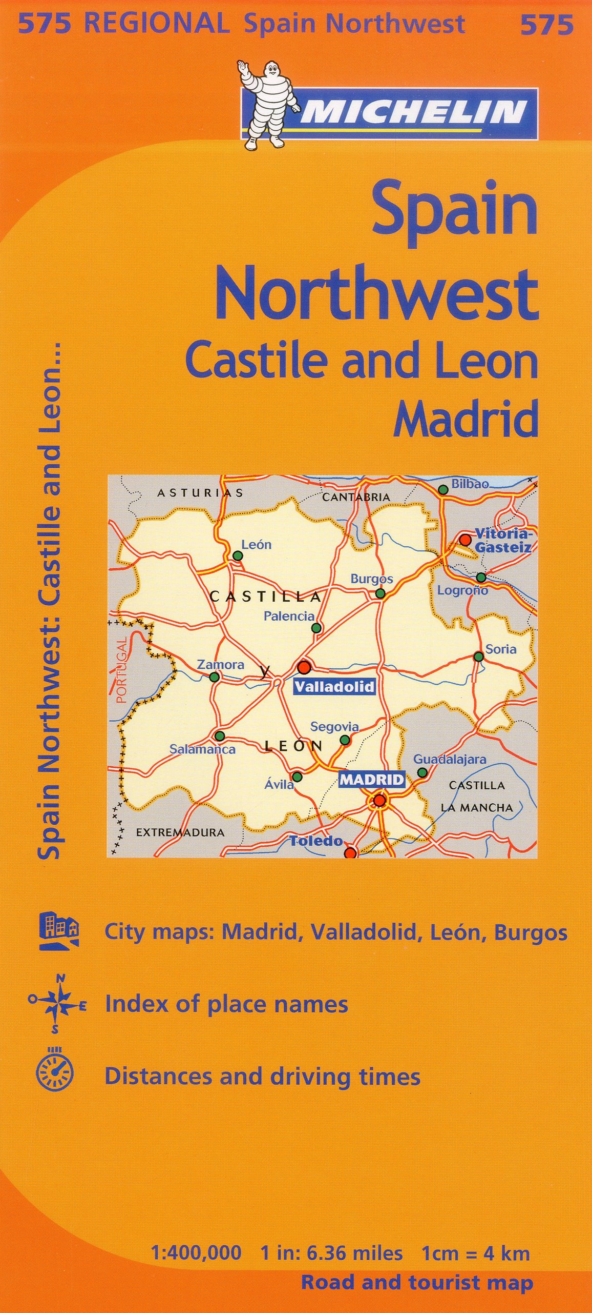 Madrid Map Of Spain.Michelin Spain Northwest Castilla Leon Madrid Map 575 Maps