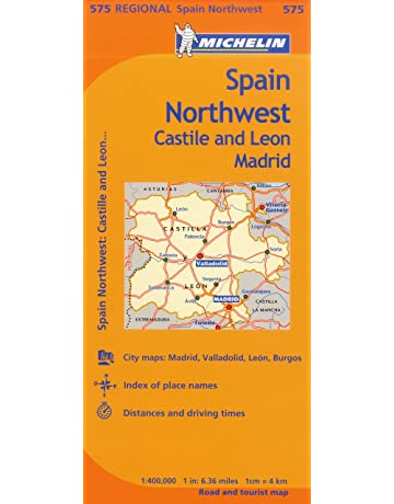 Spain Northwest: Castile and Leon / Madrid (Michelin Regional Maps, No. 575