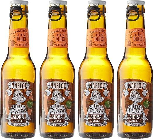 Maeloc Sidra Dulce Ecológica - Pack de 4 x 200 ml