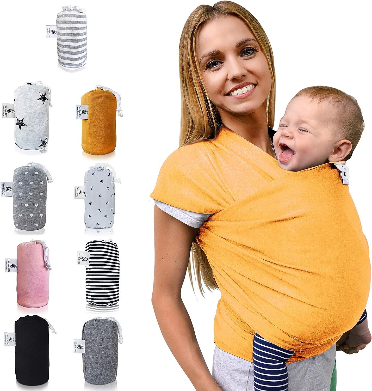 fastique Kids/® Baby Pa/ñuelo Portabeb/és/ /El/ástico para Fr/üh de y Reci/én Nacidos Ni/ños Peque/ños/ /Incluye instrucciones de Baby Wrap Carrier Marigold Talla:5,2m x 0,55m