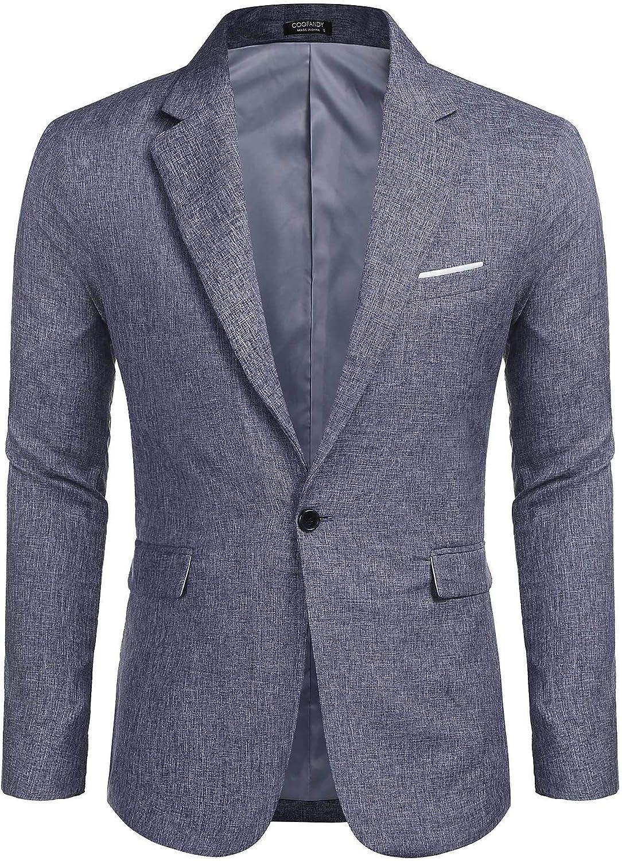 Yowablo Blazer Homme Manche Longue Veste Slim Blazer Casual /Él/égant d/écontract/é Patchwork Business Party de Mariage Outwear