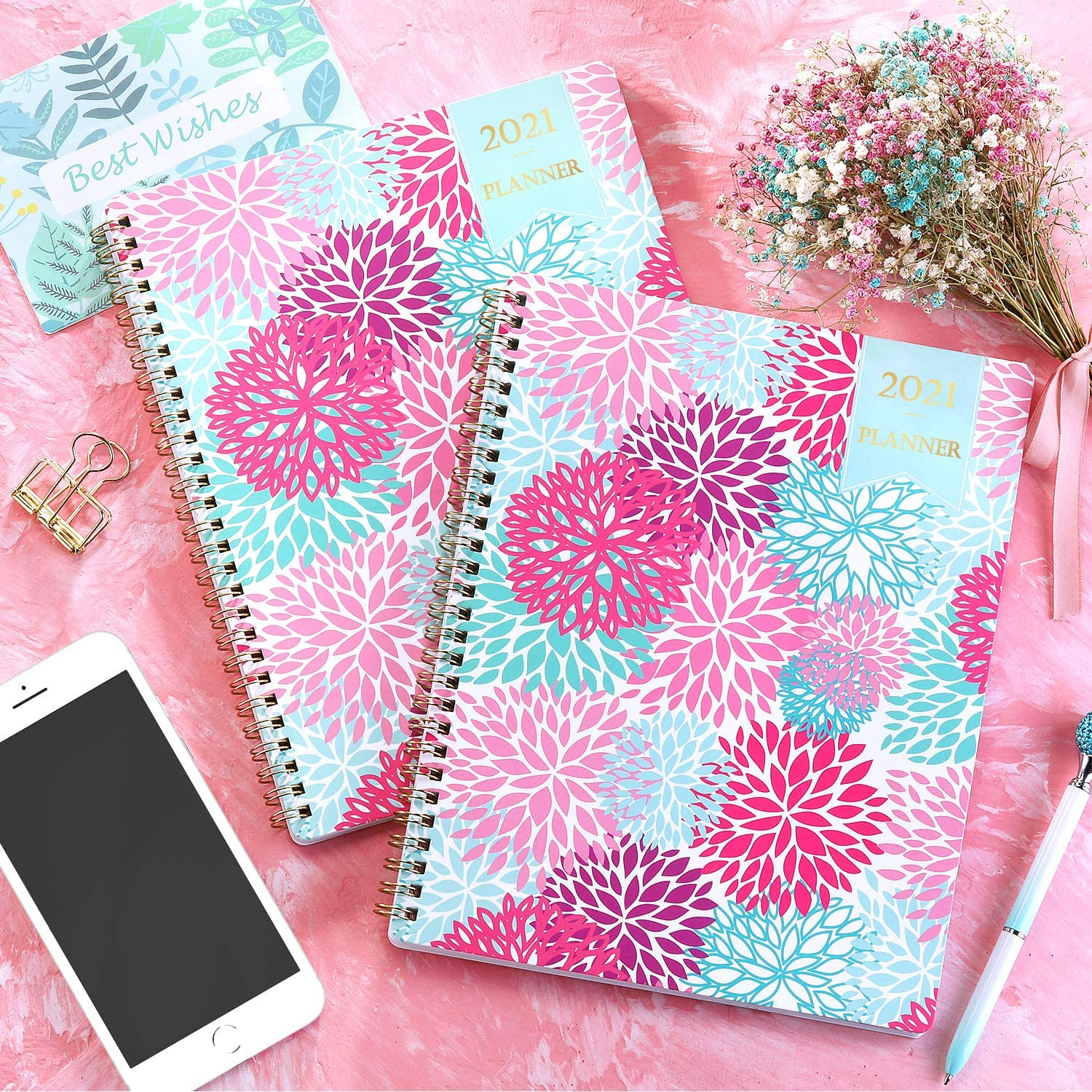 to-Do List Improving Your Time Management Skill Planner 2021 from Jan 2021- Dec 2021 Wire Binding 7.65 x 9.85 Weekly /& Monthly Layout Flexible Cover Strong Twin Planner 2021