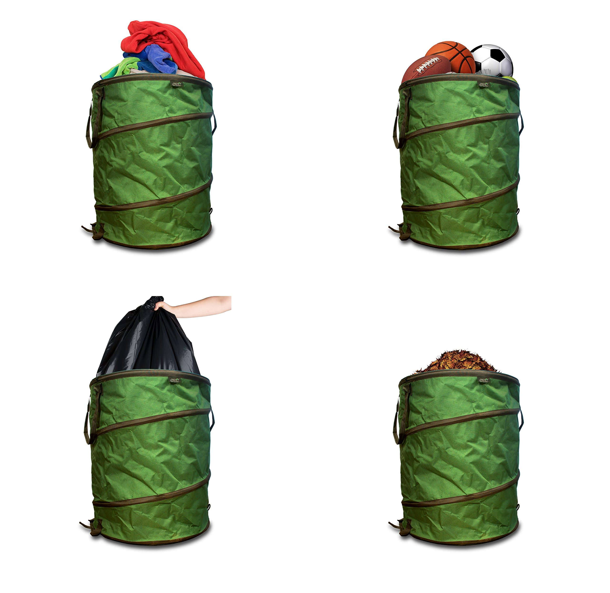 (35 Gallon) Heavy Duty Pop-Up Collapsible Yard & Garden Bag by Eretz (Image #4)